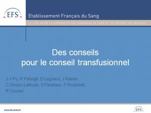 2012-11-15_10h45_fmc5_py_des_conseils_pour_le_conseil_transfusionnel