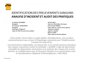 2012-11-15_10h45_fmc5_salimbeni_identification_des_prelevements_sanguins_analyse_d_incident_et_audit_des_pratiques